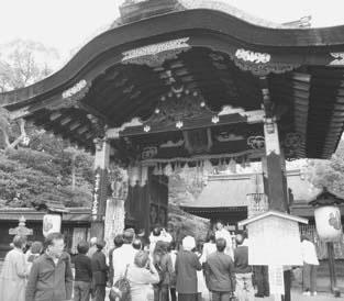 豊国神社唐門を見学