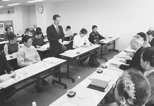 21人が出席して開かれた下京西部医師会との懇談会