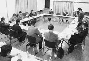 15人が出席して開かれた山科医師会との懇談会
